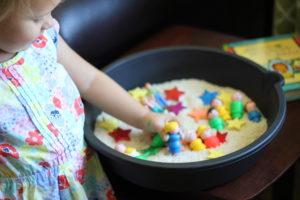 sensory bin play