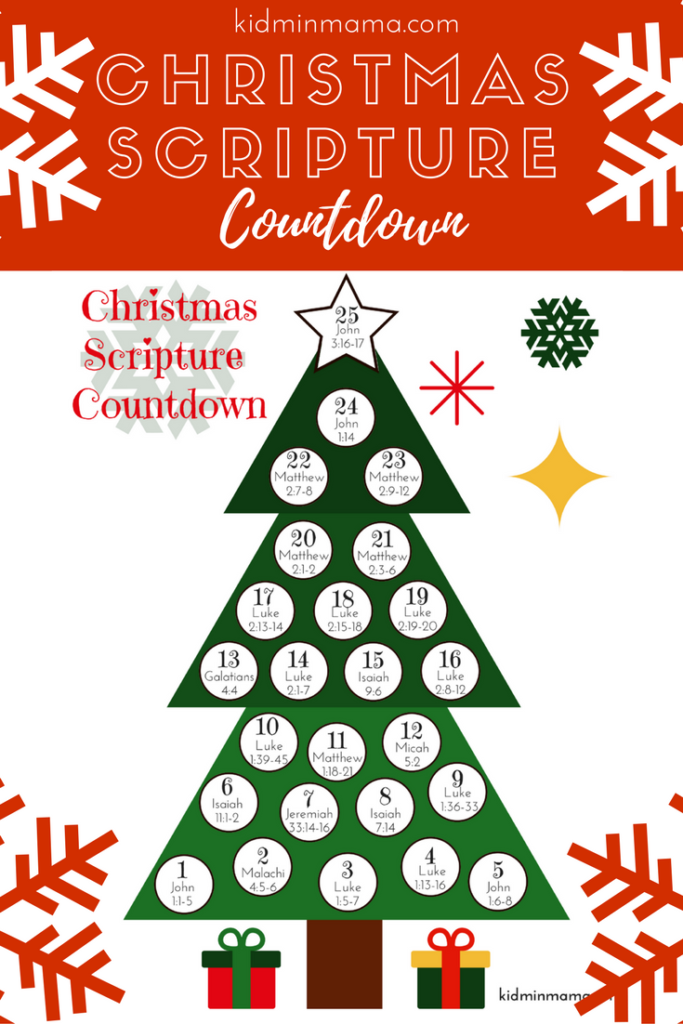Christmas Scripture Countdown for Advent
