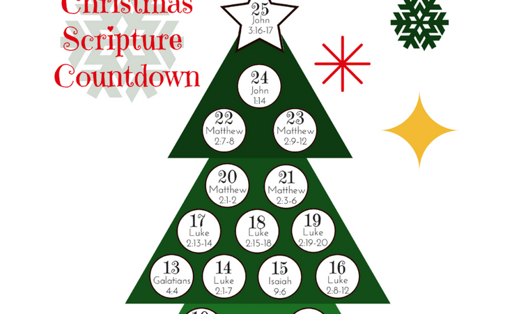 Christmas Scripture Countdown