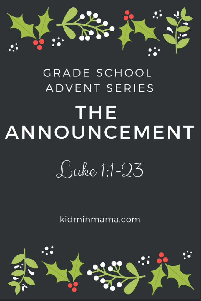 The Announcement Advent Series