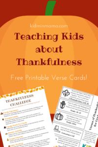 Teaching Kids About Thankfulness
